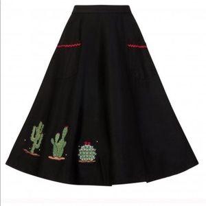 ModCloth Collectif Vintage Silvia Cactus Skirt